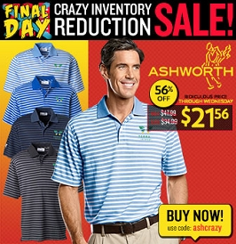 Ashworth Dual Stripe Polo
