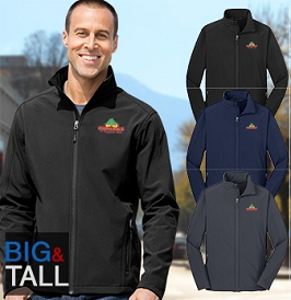 Men's Tall Core Soft Shell Performance Jacket