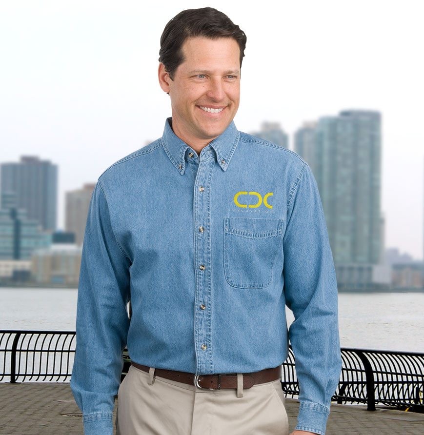Men's Classic Long Sleeve Denim Shirt