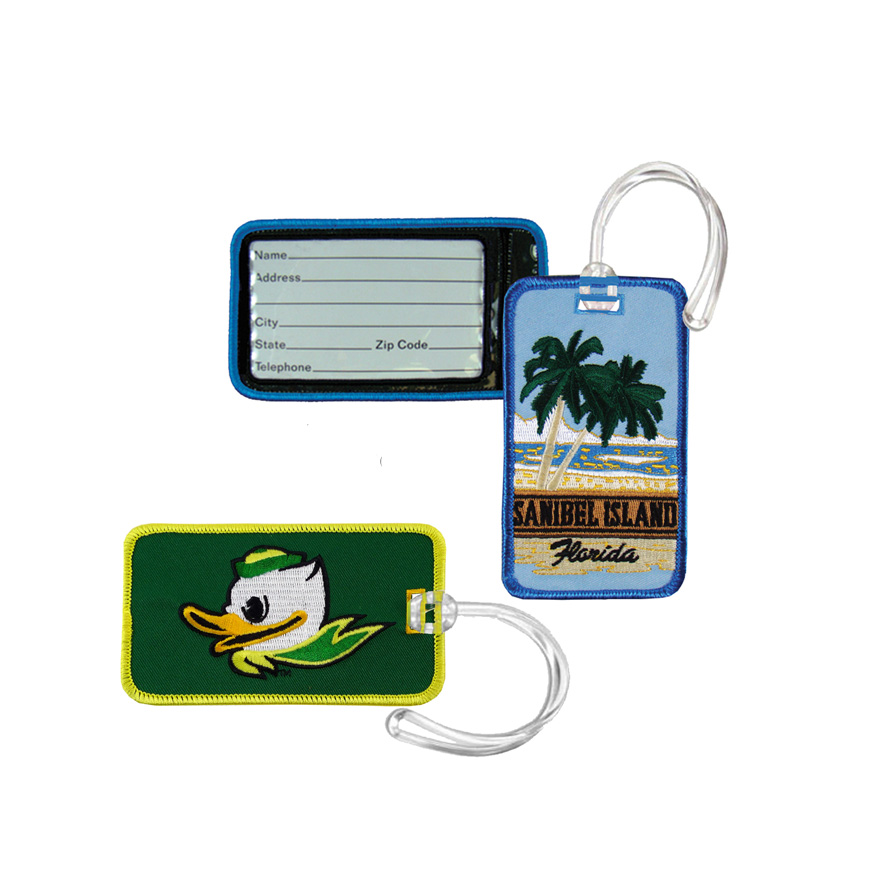 Embroidered Luggage Tag